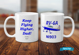 Custom Aviation Ceramic Mug (White) - Personalized w/ your Airplane
