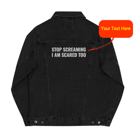 Custom Embroidered Unisex Denim Jacket