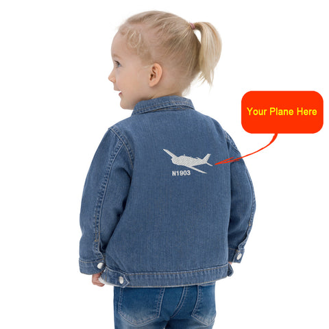 Custom Embroidered Baby Denim Jacket