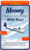 Mooney M20/M20C Ranger (Blue#2) HD Airplane Sign