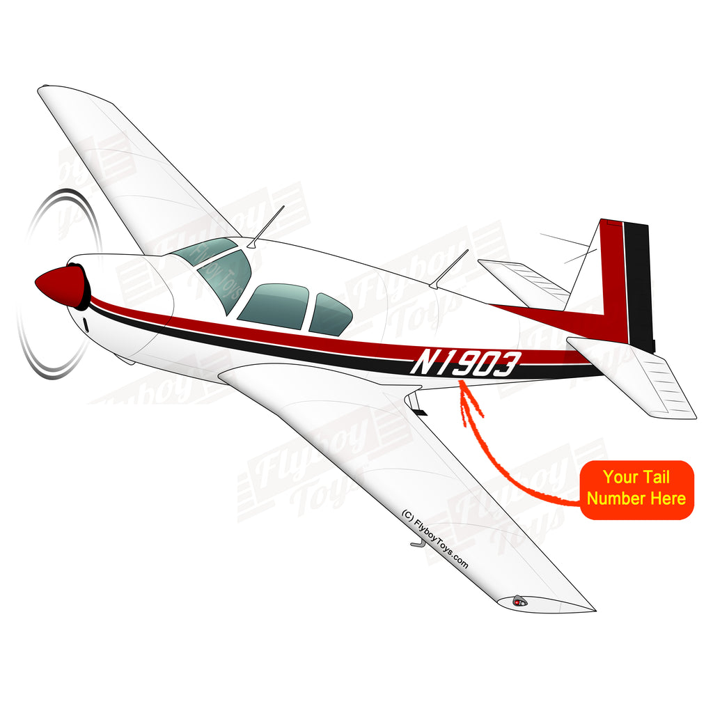 Airplane Design (Red/Black) - AIRDFFM20E-RB1