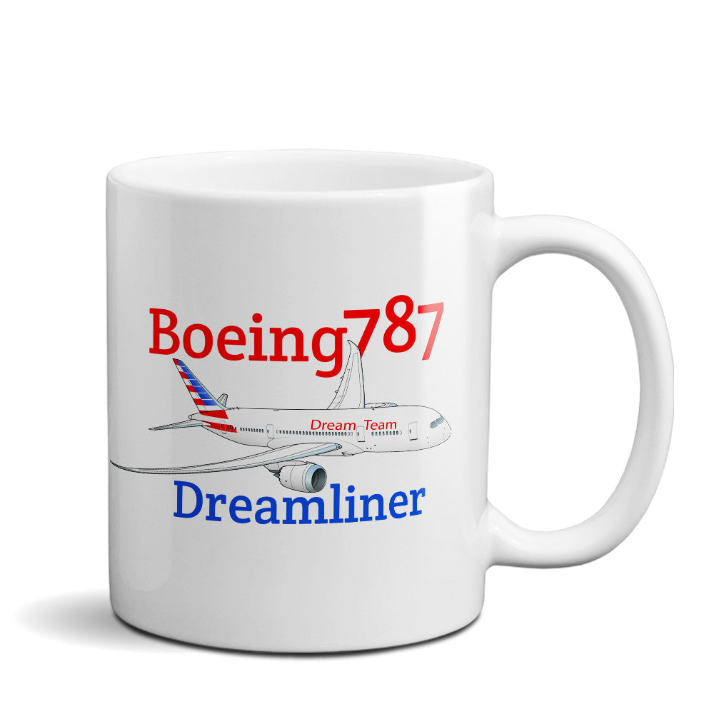 Boeing 787 Dreamliner Airplane Ceramic Mug - Personalized with N#