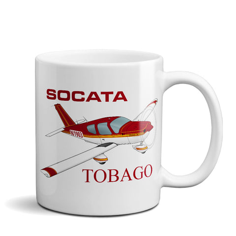 Socata Tobago TB 10 Airplane Ceramic Mug - Personalized w/ N#
