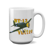 Vultee BT-13 Valiant Airplane Ceramic Mug - Personalized w/ N#