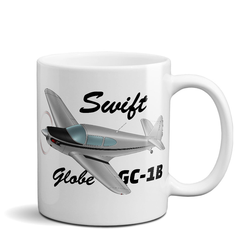 Globe/Temco Swift GC-1B Airplane Ceramic Mug - Personalized w/ N#