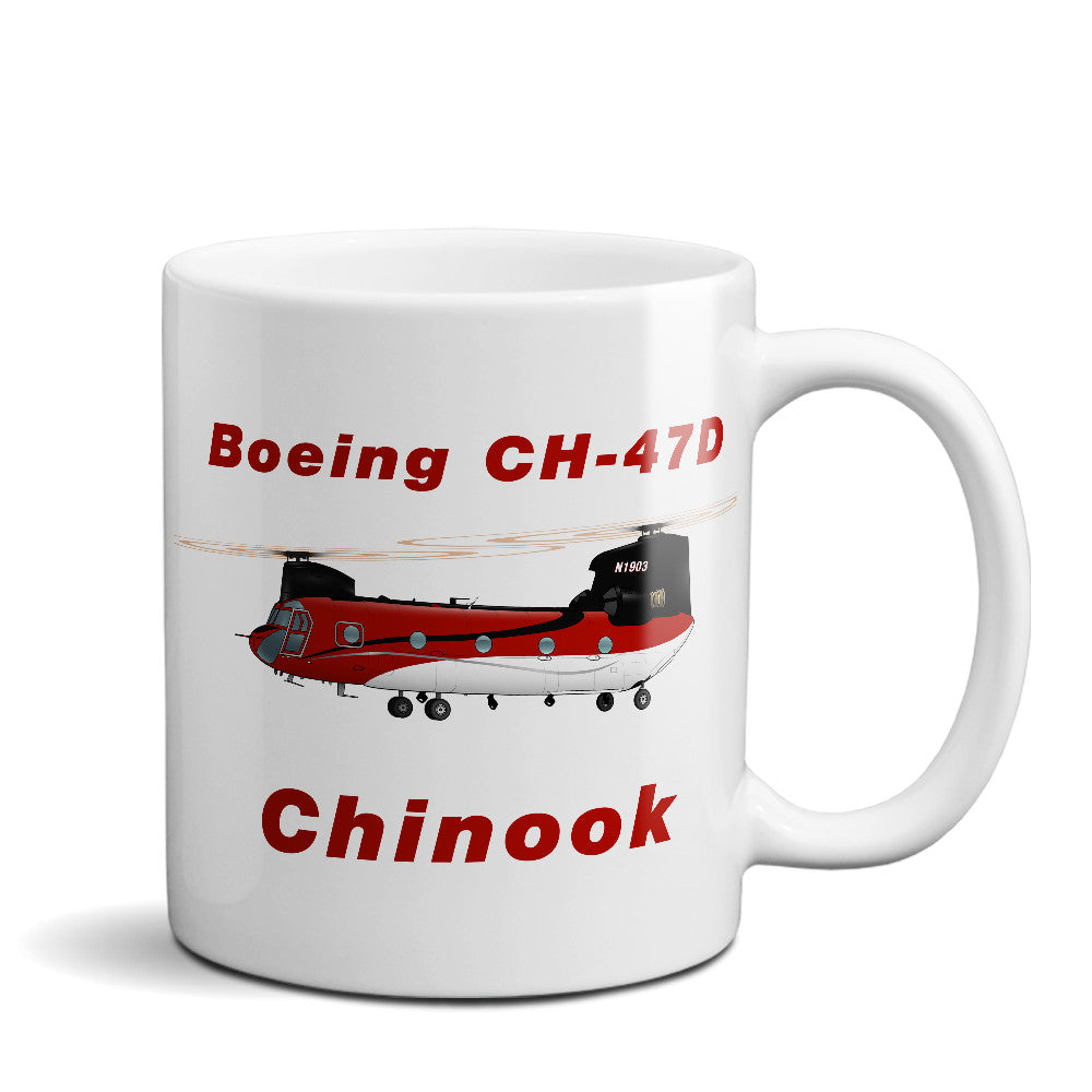 Boeing CH-47D Chinook Airplane Ceramic Mug - Personalized w/ N#
