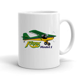 Kitfox Model 1 (Green/Yellow) Airplane Ceramic Mug - Personalized with N#