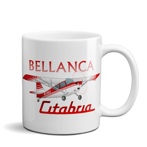 Bellanca Citabria 7KCAB Airplane Ceramic Mug - Personalized w/ N#