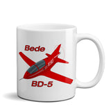 Bede BD-5 Airplane Ceramic Mug - Personalized w/ N#