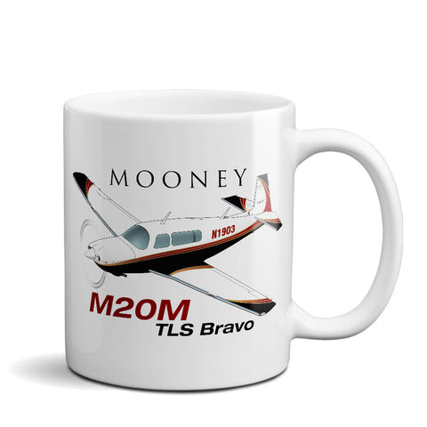 Mooney M20M Airplane Ceramic Mug - Personalized w/ N#