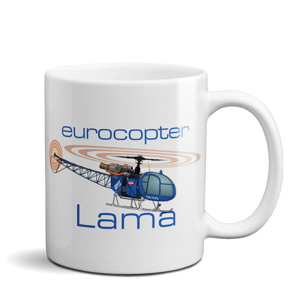 Eurocopter SA-315B Lama Helicopter Ceramic Mug - Personalized w/ N#