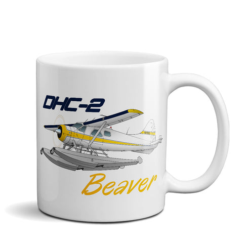 De Havilland DHC-2 Beaver Airplane Ceramic Mug - Personalized w/ N#