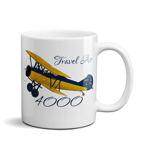 Curtis Wright Travel Air 4000 Airplane Ceramic Mug - Personalized w/ N#