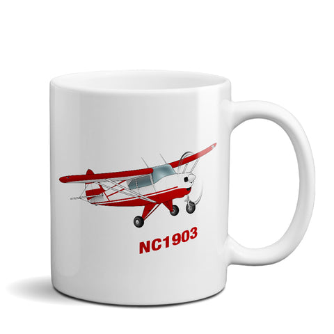 Airplane Ceramic Custom Mug AIRG9GKI9-R7 - Personalized w/ your N#