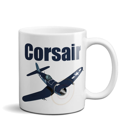 Vought FG-1D Corsair Airplane Ceramic Mug - Personalized w/ N#