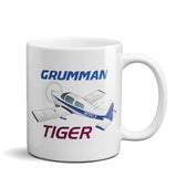Grumman American Tiger AA1-5B Airplane Ceramic Mug - Personalized w/ N#