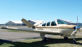 Beechcraft Bonanza V35A V-Tail (Brown/Tan #3) Airplane Design