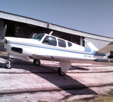 Beechcraft Bonanza E35 (Silver/Blue) Airplane Design