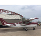 Cessna 210 Turbo (Burgundy/Silver) Airplane Design