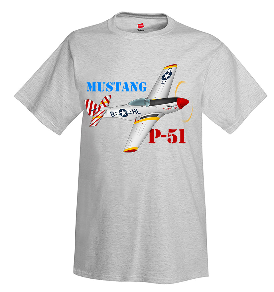 North American P-51 Mustang Airplane T-Shirt - Personalized w/ Your N#