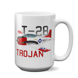 North American T-28 Trojan Airplane Ceramic Mug - Personalized w/ N#