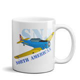 North American T-6 Texan/AT-6/SNJ Airplane Ceramic Mug - Personalized
