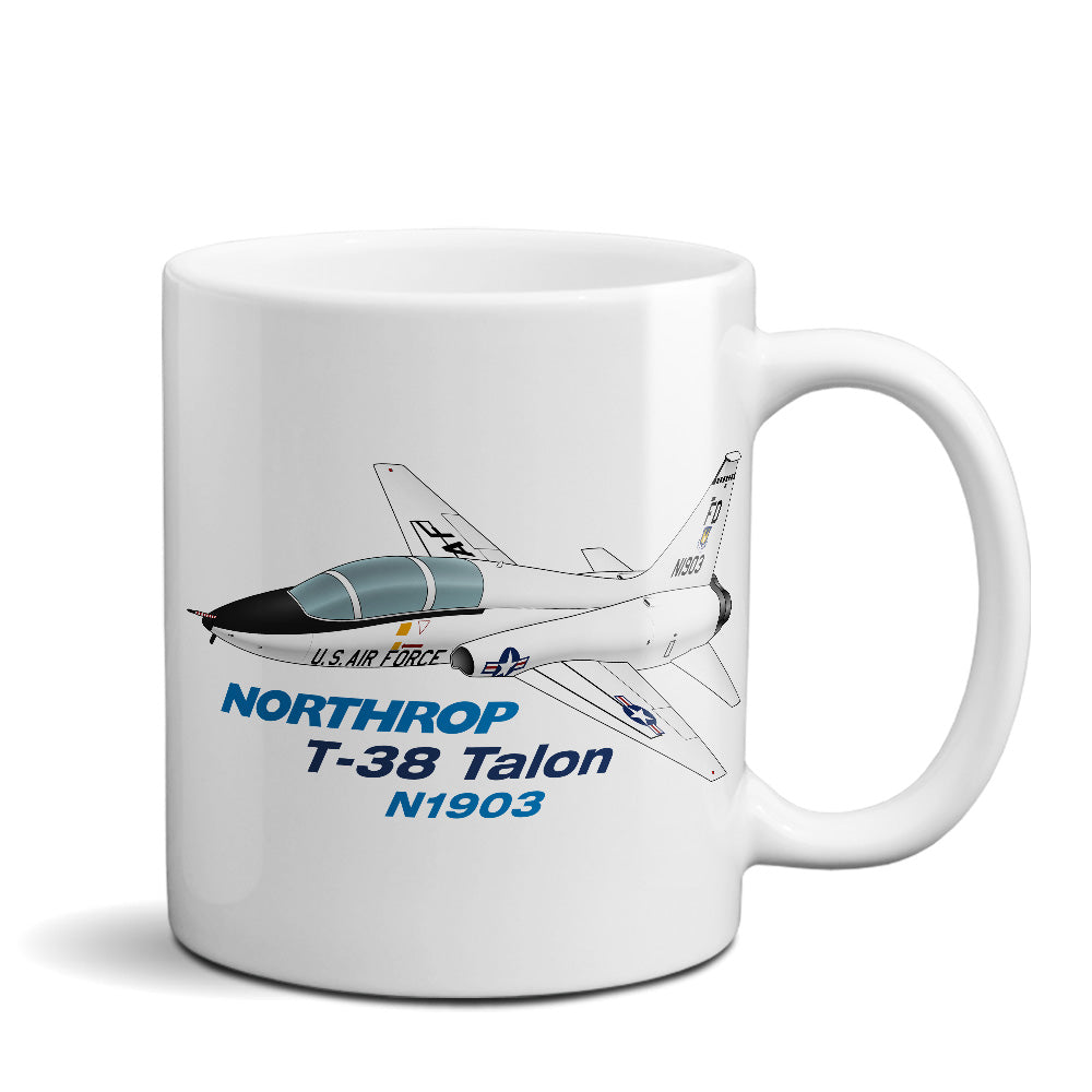 Northrop T-38 Talon Airplane Ceramic Mug - Personalized w/ N#
