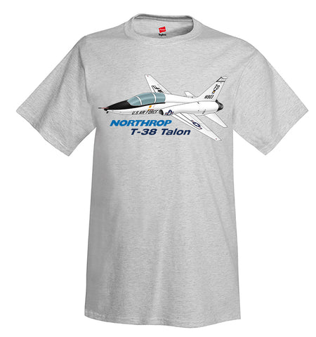 Northrop T-38 Talon (Black) Airplane T-Shirt - Personalized w/ Your N#
