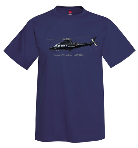 AgustaWestland AW109 Helicopter T-Shirt - Personalized with Your N#