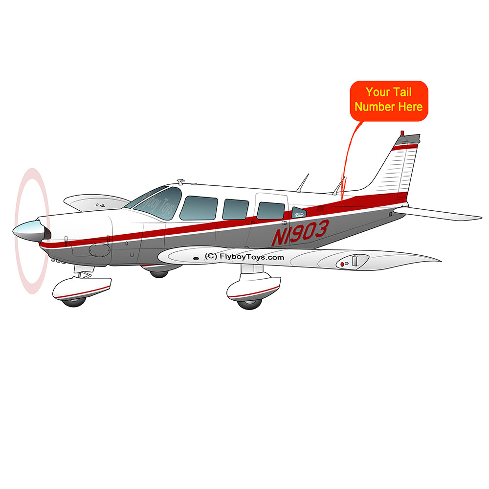 Airplane Design (Silver/Red #2) - AIRG9G3856-SR2