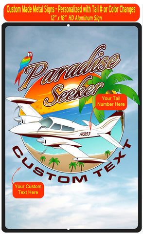 Paradise Seeker HD Airplane Sign - AIR35JJ310-MG1