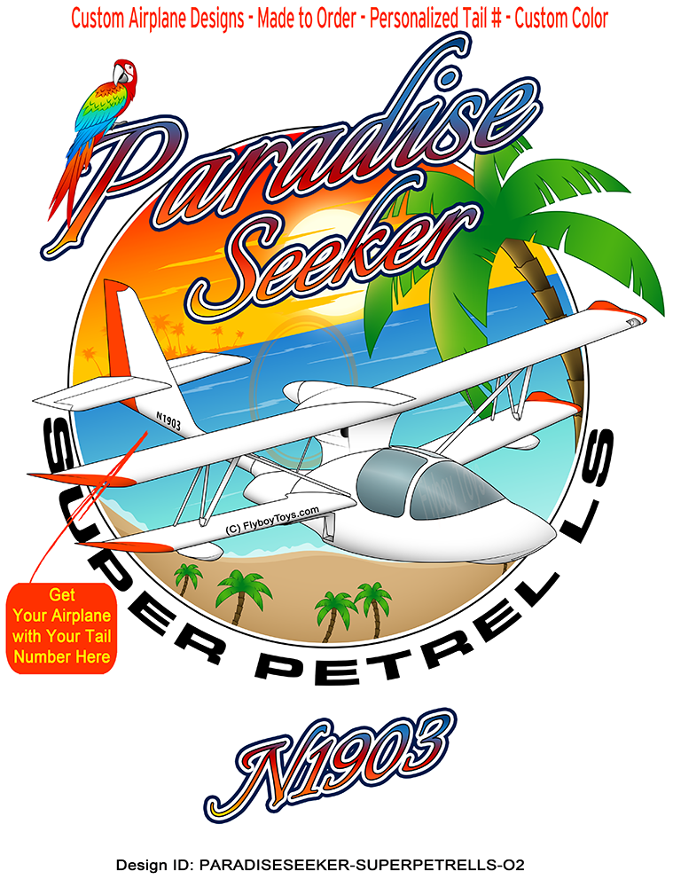 Super Petrel LS (Orange #2) Airplane Paradise Seeker Design