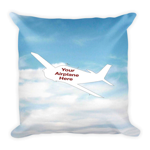Custom Aviation Throw Pillow  - Personalized w/ your Airplane