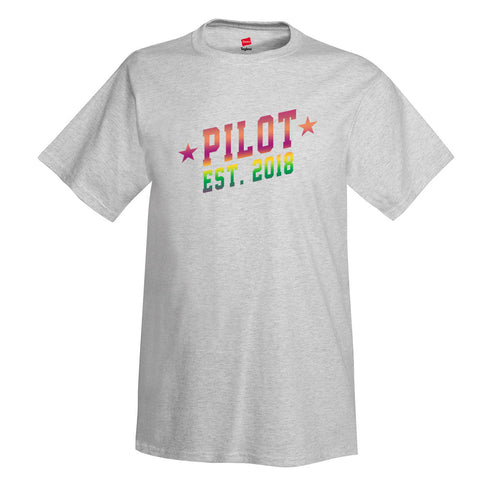 Pilot Est 3 Aviation Airplane T-Shirt