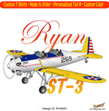 Ryan ST Airplane T-shirt- Personalized with N#