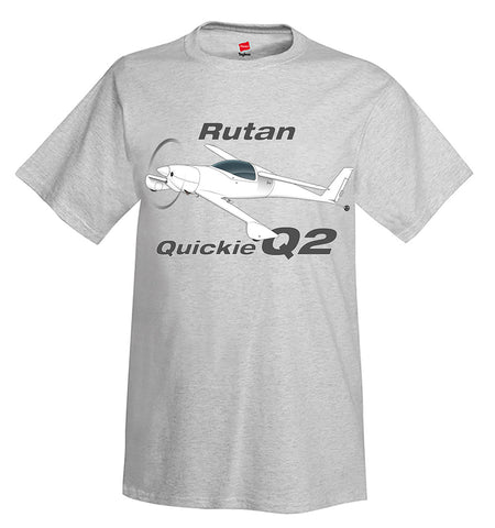 Rutan Quickie Q2 Airplane T-Shirt - Personalized w/ Your N#