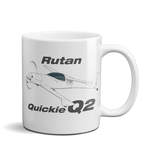 Rutan Quickie Q2 Airplane Ceramic Mug - Personalized w/ N#