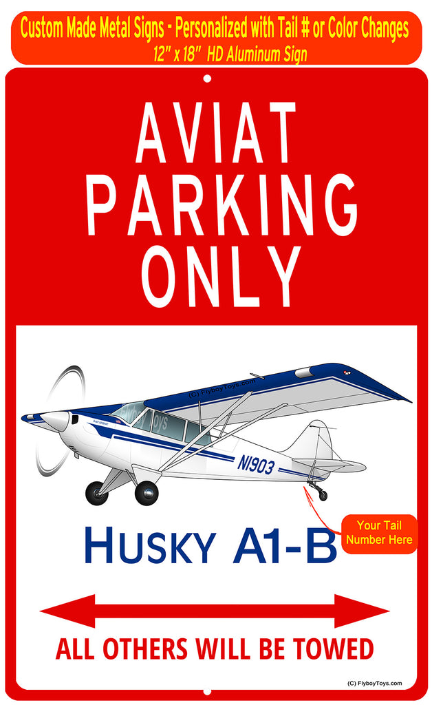 Aviat Husky A1-B (Blue) HD Airplane Sign