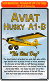 Aviat Husky A1-B (Yellow/Black/Red) HD Airplane Sign