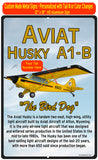 Aviat Husky A1-B (Yellow/Black/Red #2) HD Airplane Sign