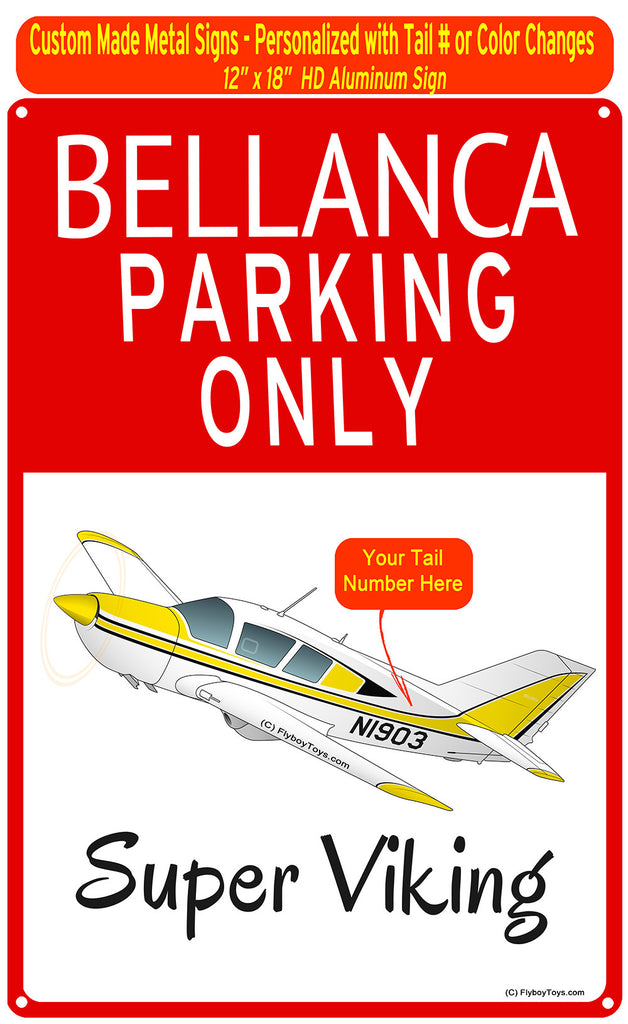 Bellanca Super Viking (Yellow) HD Airplane Parking Sign