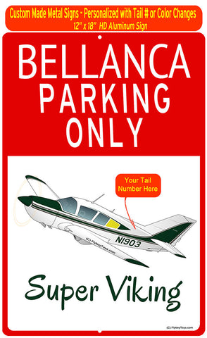 Bellanca Super Viking (Yellow/Green) HD Airplane Sign