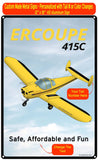 Erco Ercoupe 415C (Yellow/Black) HD Airplane Sign
