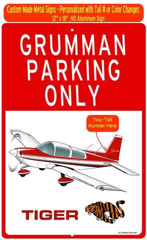 Grumman Tiger (Red #3) HD Airplane Sign