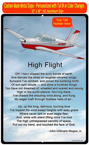 High Flight HD Airplane SIGN-HIGHFLIGHT-AIR255452-SR1 - Personalized with Your N#