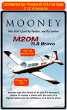 Mooney M20M (Black/Maroon/Gold) HD Airplane Sign