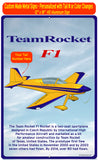 Team Rocket F1 (Yellow/Blue) HD Airplane Sign