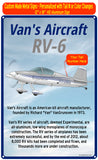Van's Aircraft RV-6 (Silver/Blue) HD Airplane Sign
