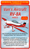 Van's Aircraft RV-8A (Red/Black) HD Airplane Sign