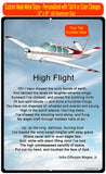 High Flight HD Airplane SIGN-HIGHFLIGHT-AIR2552FEV35A-BURG1 - Personalized with Your N#